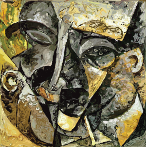 Dynamism of a Man's Head (Printed on Canvas)